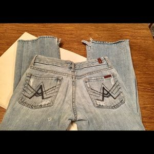 "7 For All Mankind Sz 26 ""A"" Pocket Jeans"
